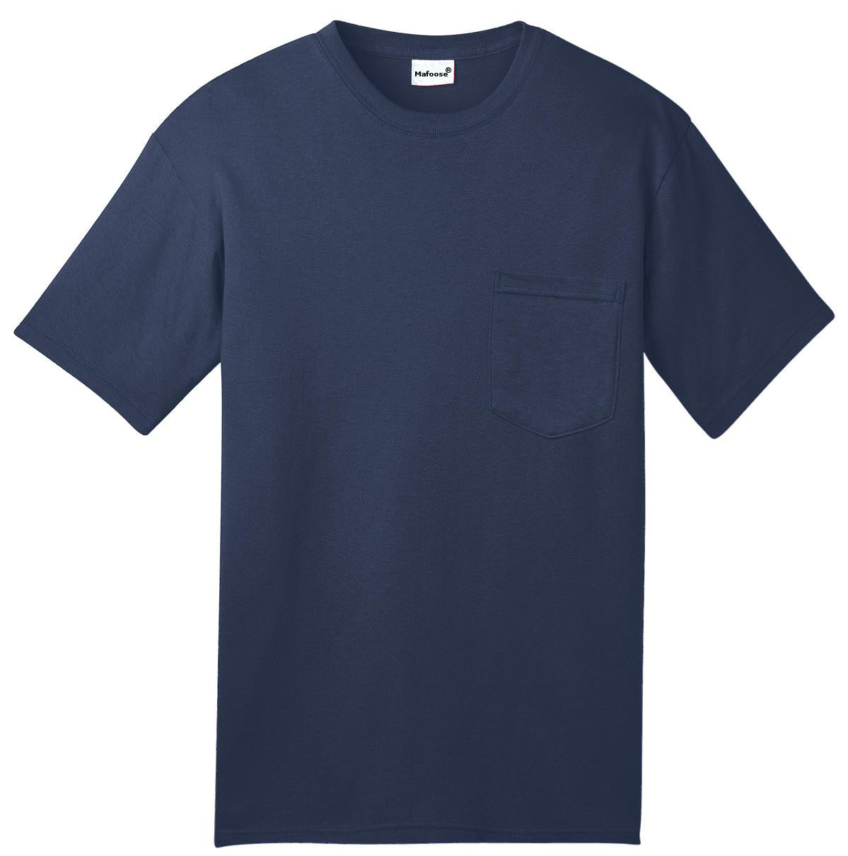 Mafoose Men's All American Tee Shirt with Pocket Navy-Front