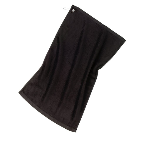 Grommeted Golf Towel - Black