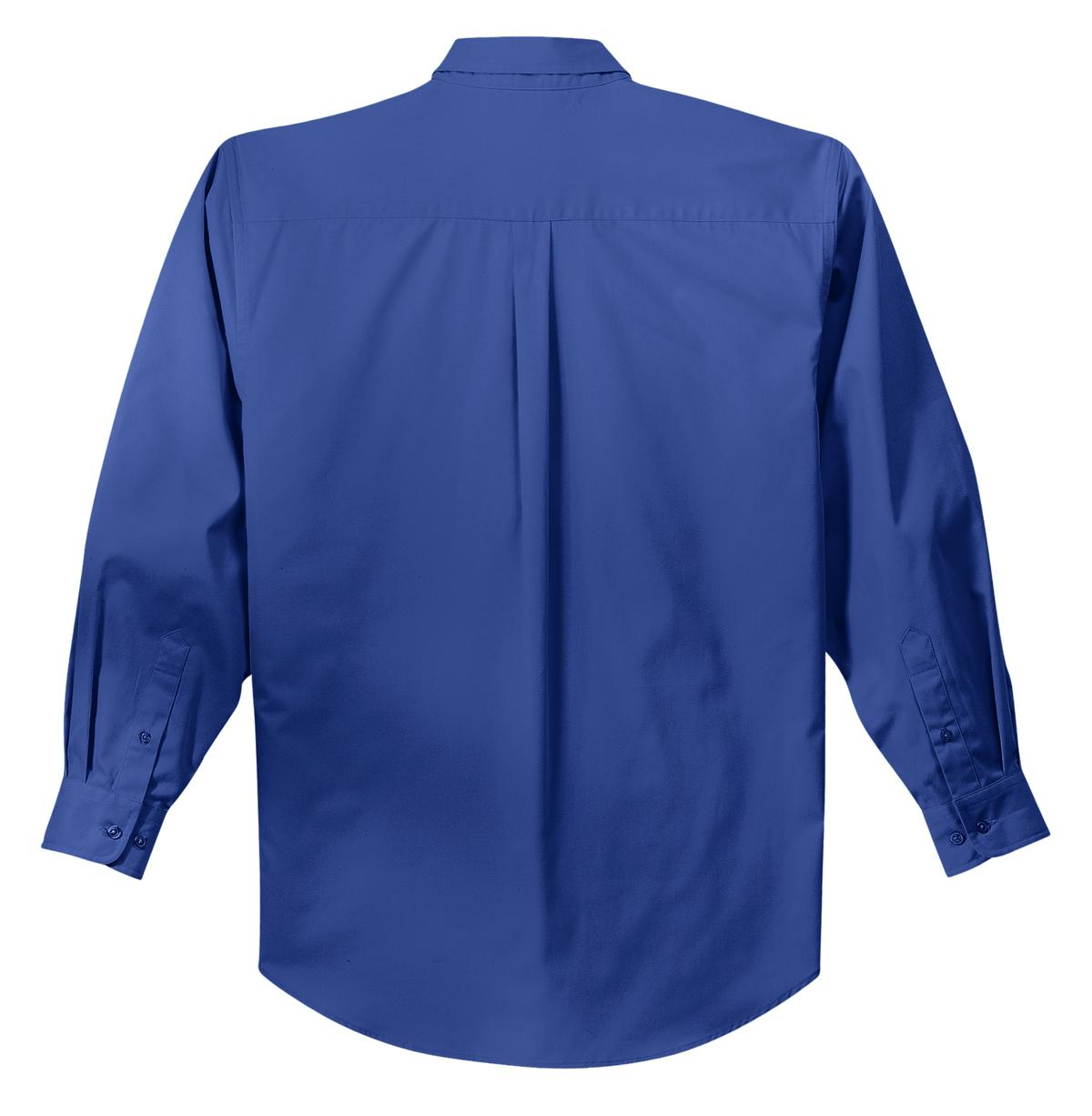 Mafoose Men's Tall Long Sleeve Easy Care Shirt Royal/ Classic Navy-Back