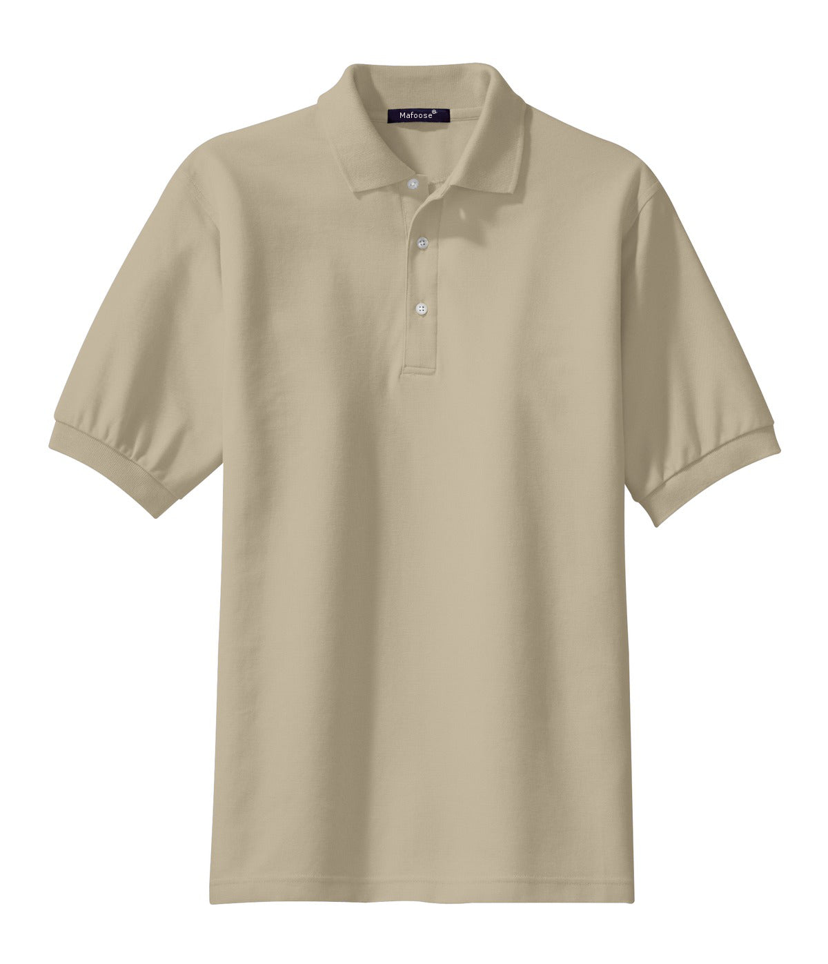 Mafoose Men's 100% Pima Cotton Polo Shirt Stone-Front