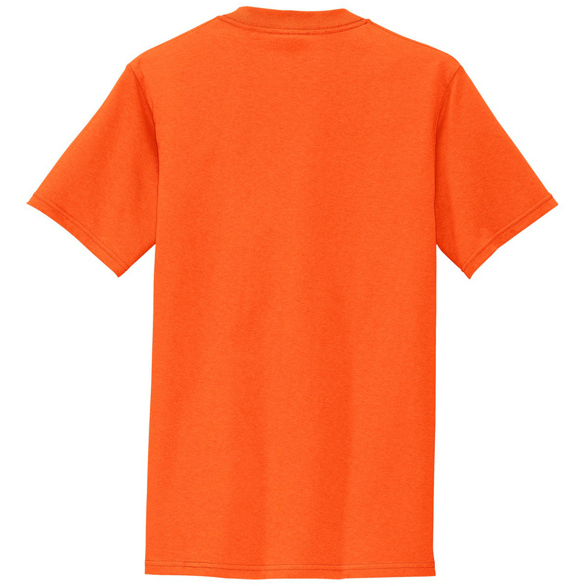 Mafoose Men's All American Tee Shirt with Pocket Safety Orange-Back