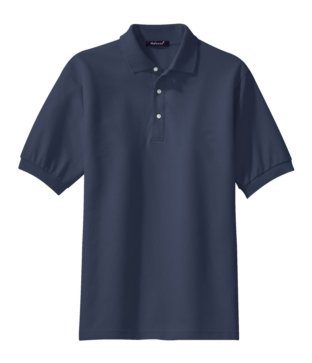 Mafoose Men's 100% Pima Cotton Polo Shirt Navy-Front
