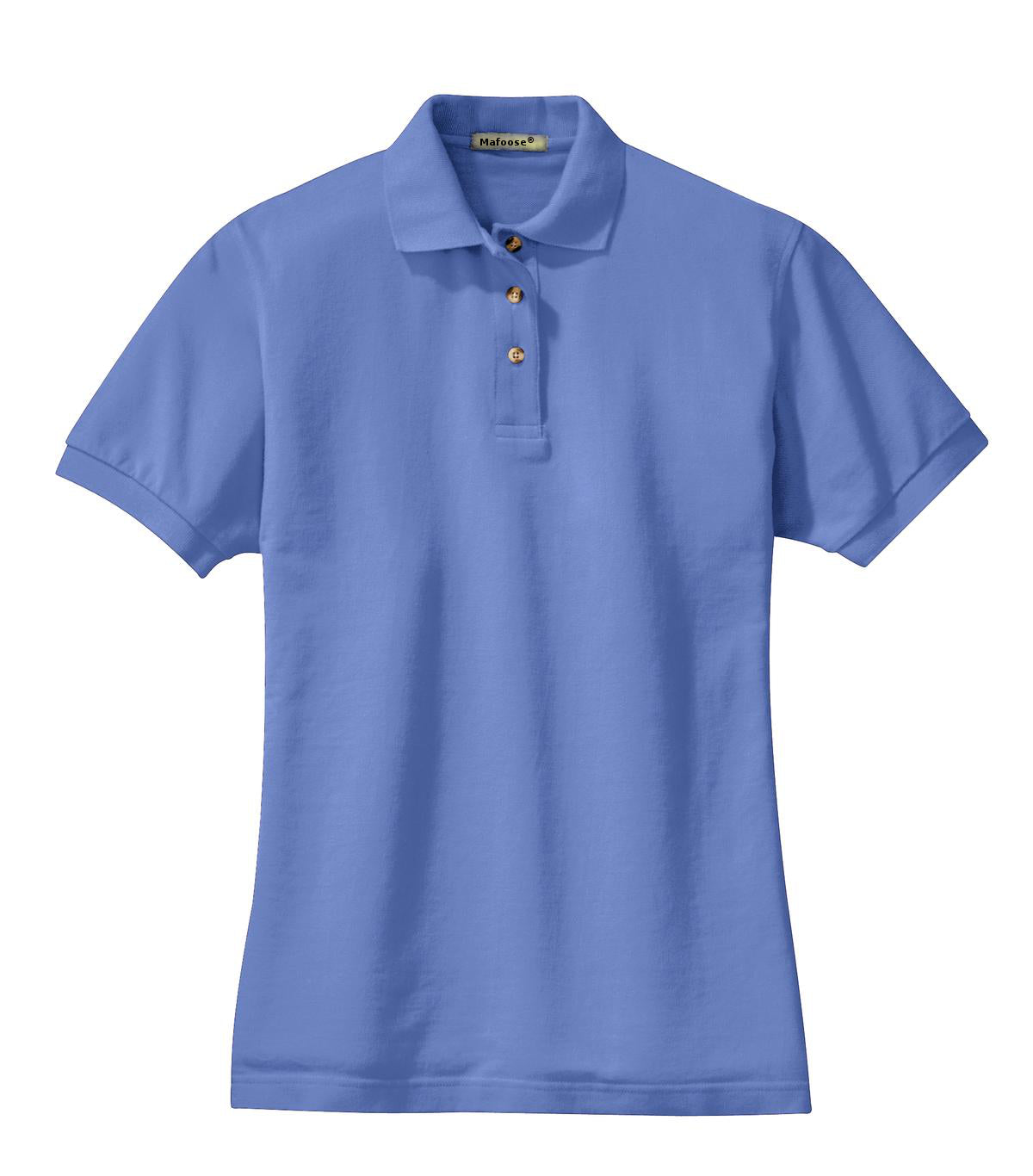 Mafoose Women's Heavyweight Cotton Pique Polo Shirt Blueberry-Front