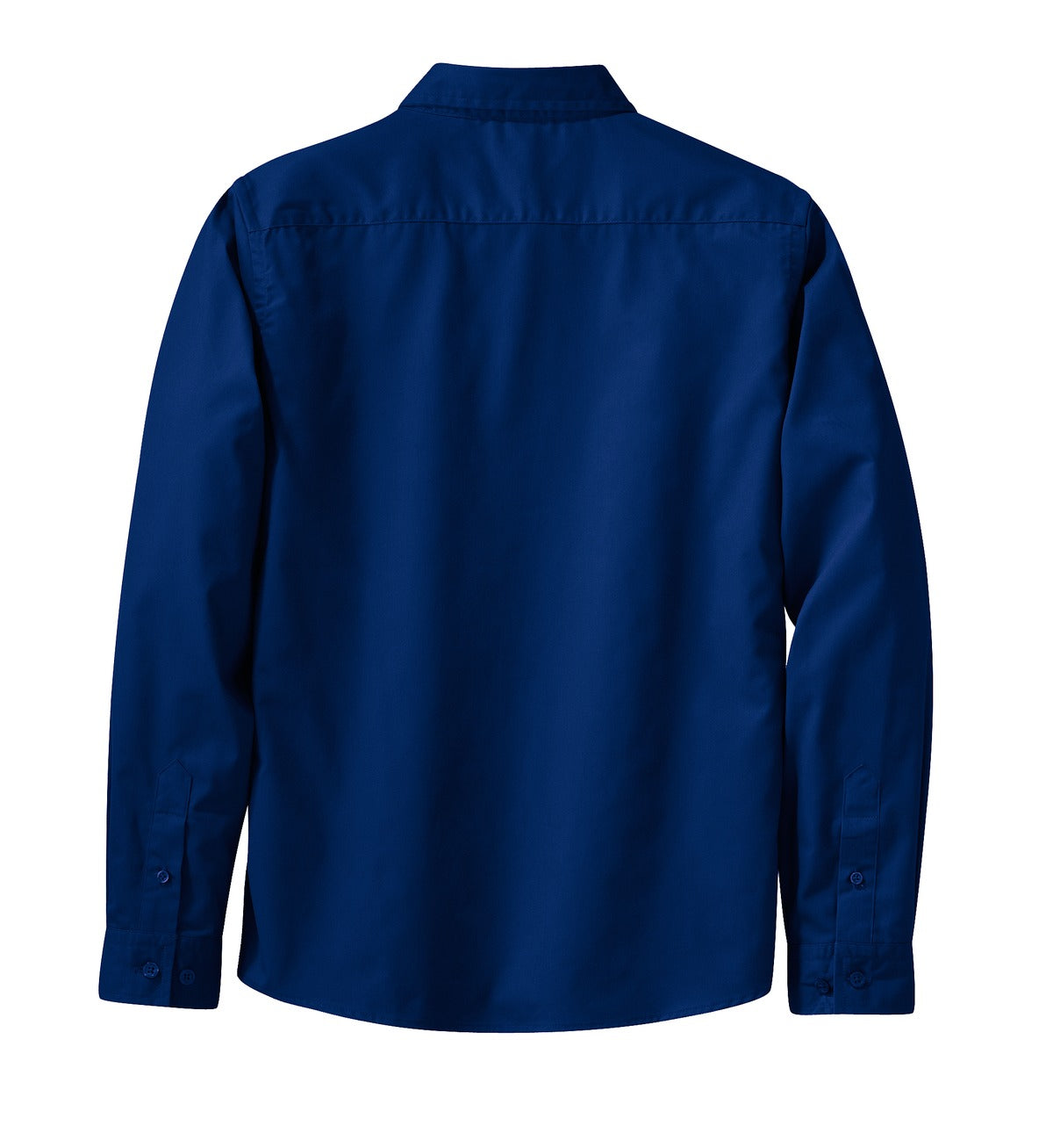 Mafoose Women's Long Sleeve Easy Care Shirt Mediterranean Blue-Back