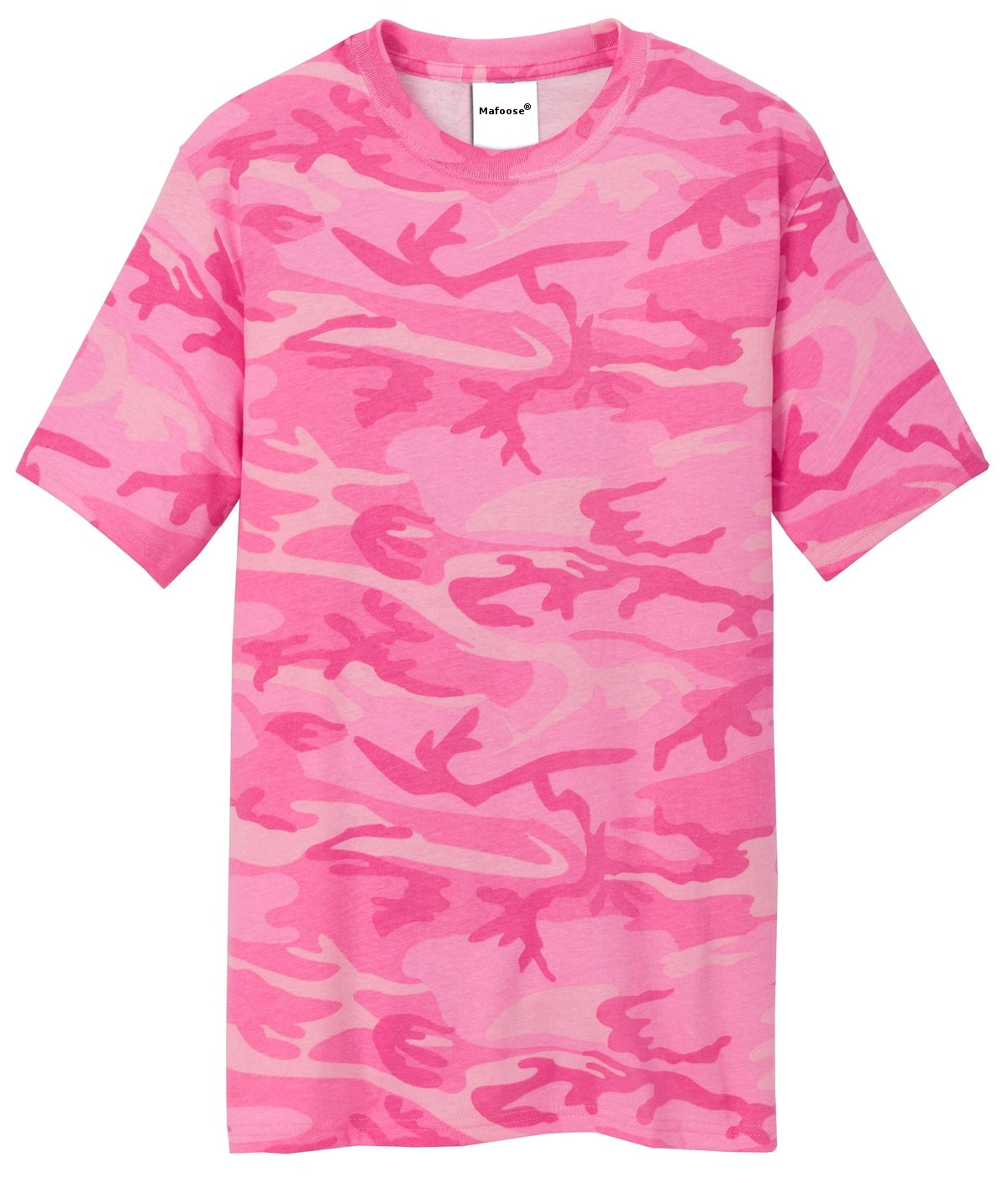 Mafoose Men's 5.4-oz 100% Cotton Tee Shirt Pink Camo-Front