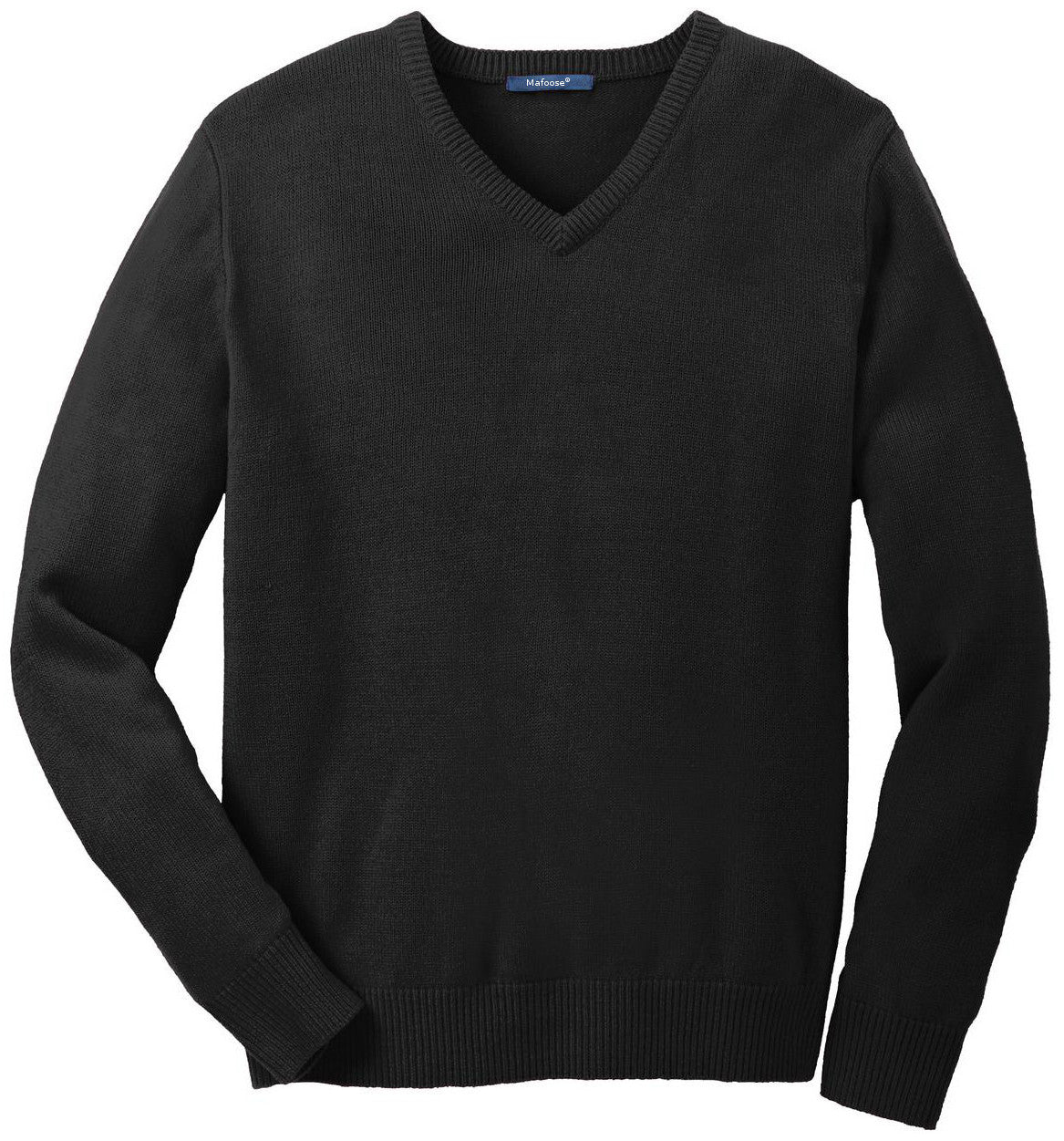 Mafoose Men's Value V-Neck Sweater Black-Front