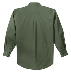 Mafoose Men's Tall Long Sleeve Easy Care Shirt Clover Green-Back
