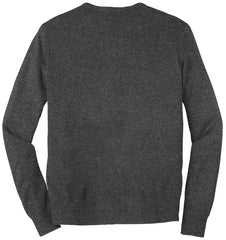 Mafoose Men's Value V-Neck Sweater Charcoal Grey-Back