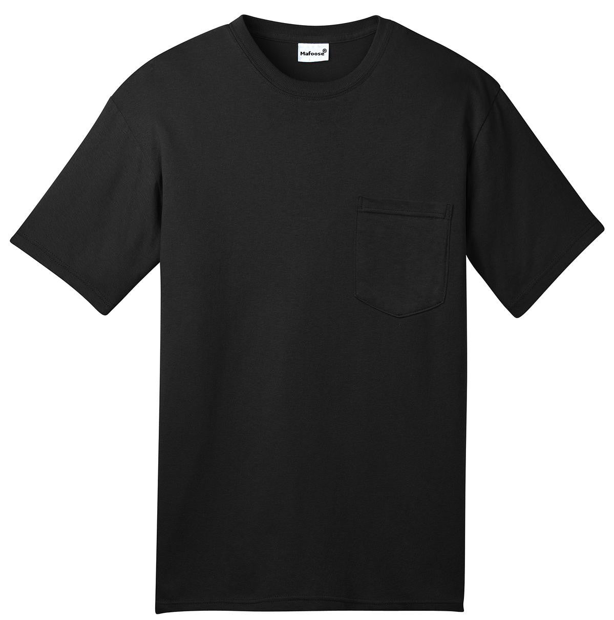 Mafoose Men's All American Tee Shirt with Pocket Black-Front
