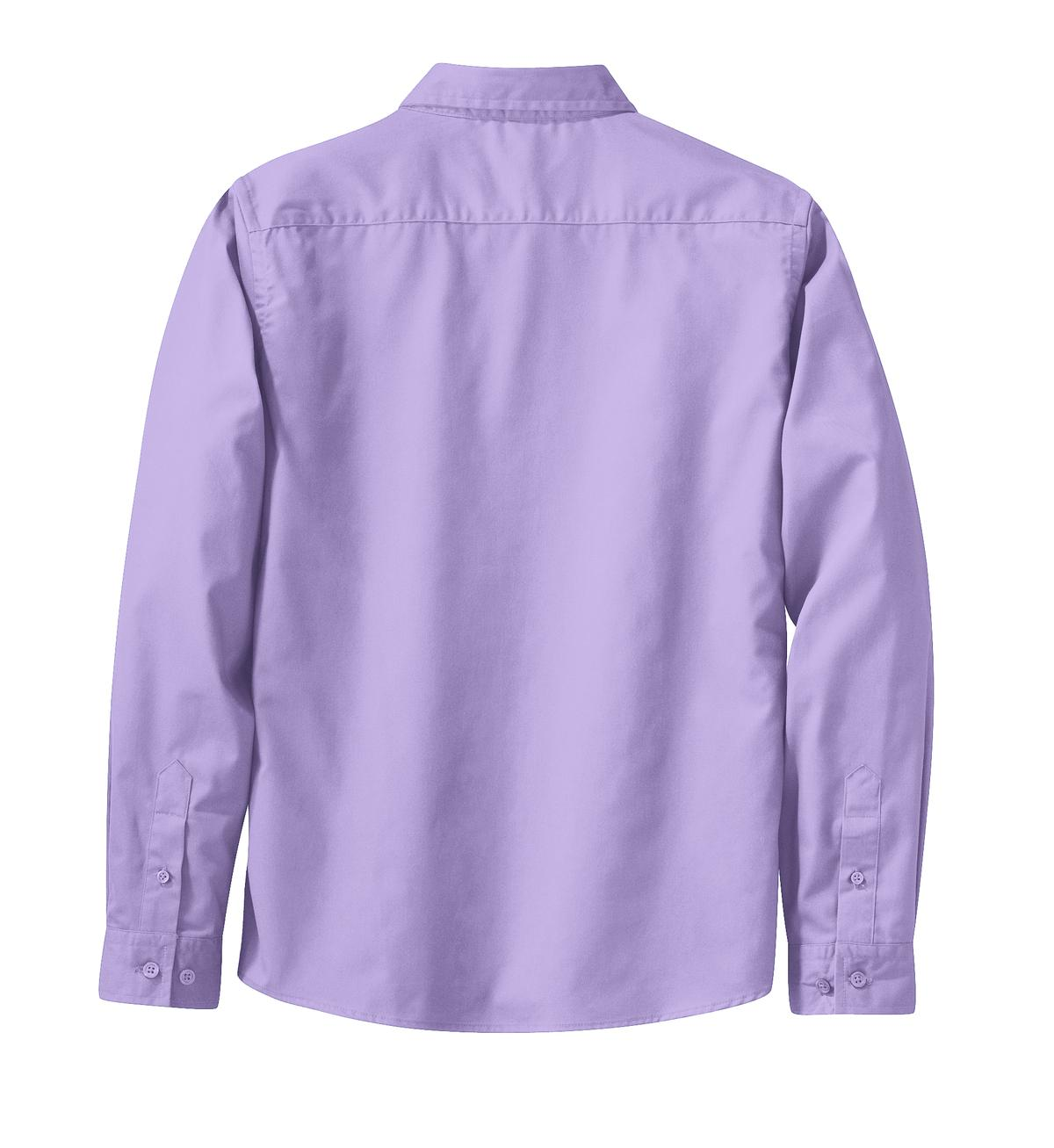 Mafoose Women's Long Sleeve Easy Care Shirt Bright Lavender-Back