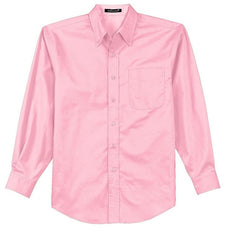 Mafoose Men's Tall Long Sleeve Easy Care Shirt Light Pink-Front