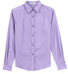 Mafoose Women's Long Sleeve Easy Care Shirt Bright Lavender-Front