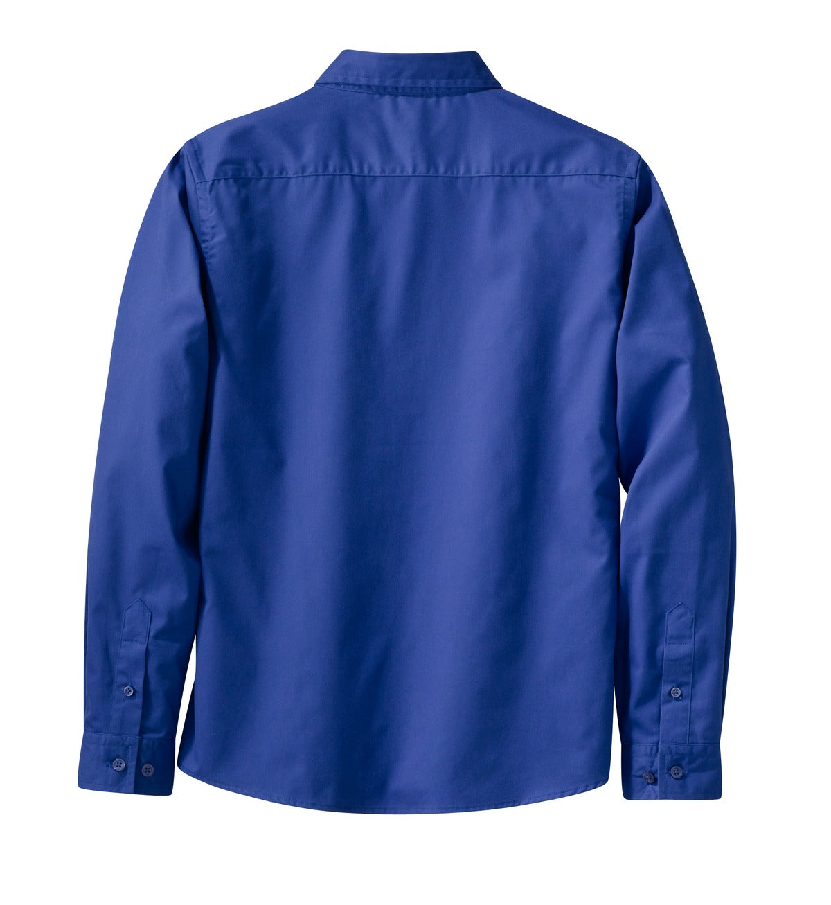 Mafoose Women's Long Sleeve Easy Care Shirt Royal/ Classic Navy-Back