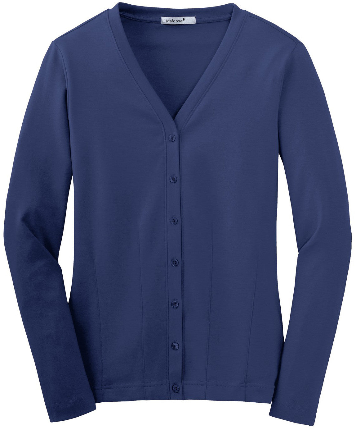 Mafoose Women's Stretch Cotton Cardigan Sapphire Blue-Front