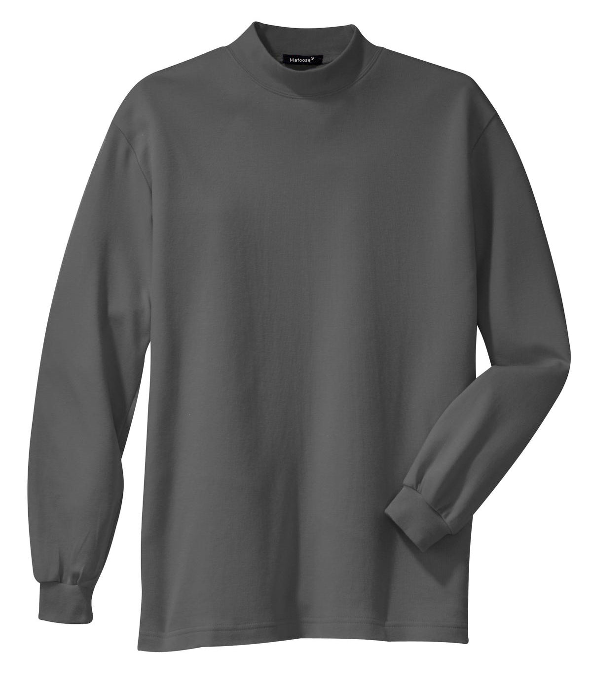 Mafoose Men's Interlock Knit Mock Turtleneck Sweaters Steel Grey-Front