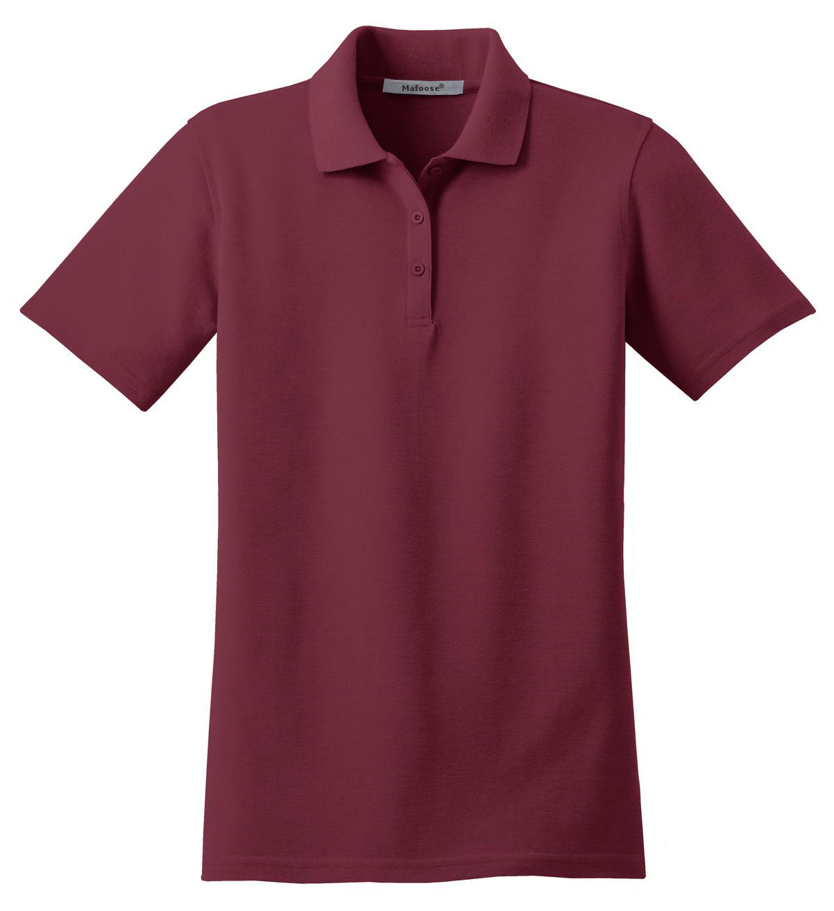 Mafoose Women's Stain Resistant Polo Shirt Burgundy-Front