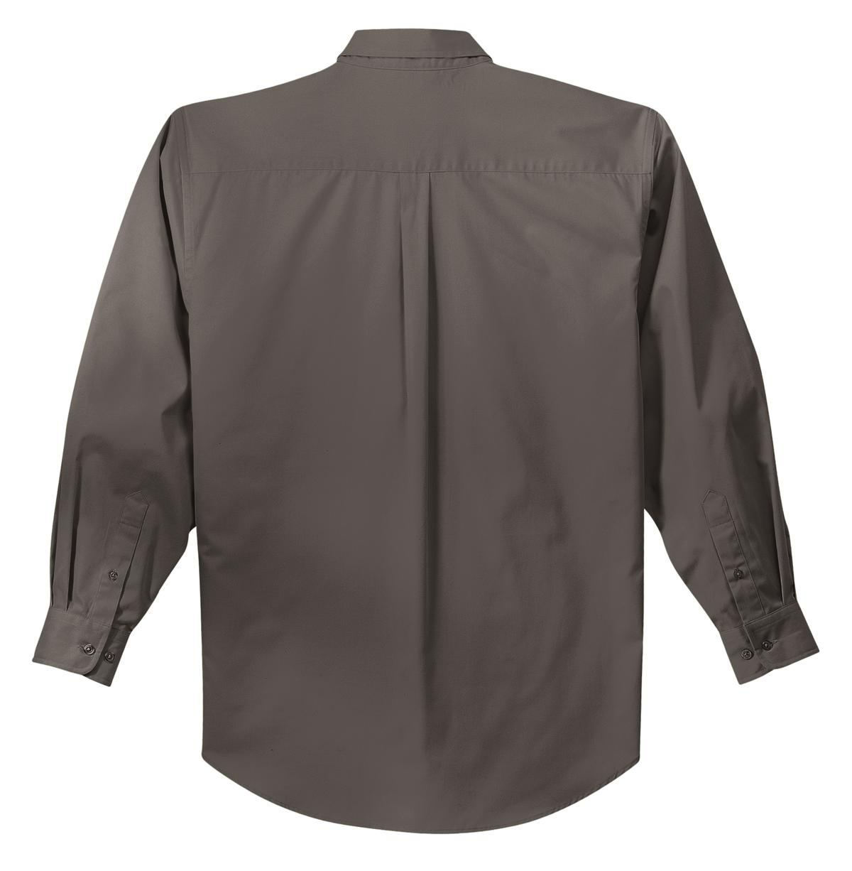 Mafoose Men's Tall Long Sleeve Easy Care Shirt Bark-Back