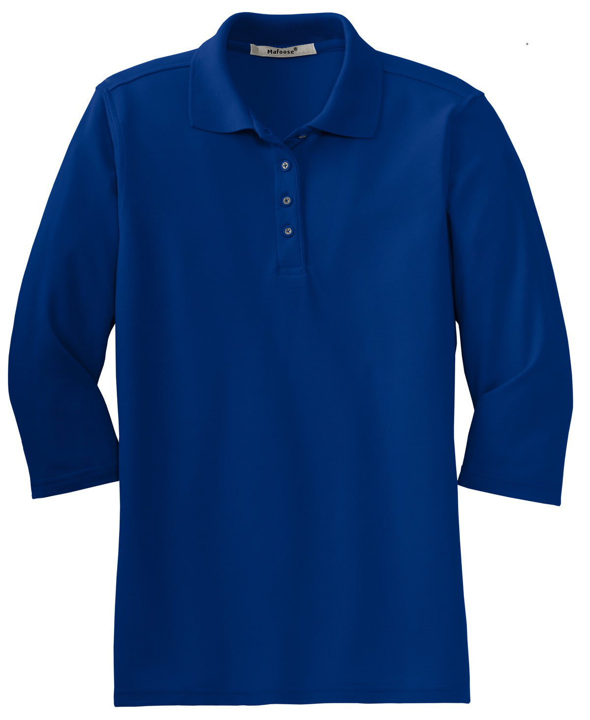 Mafoose Women's Silk Touch ¾ Sleeve Polo Shirt Royal-Front