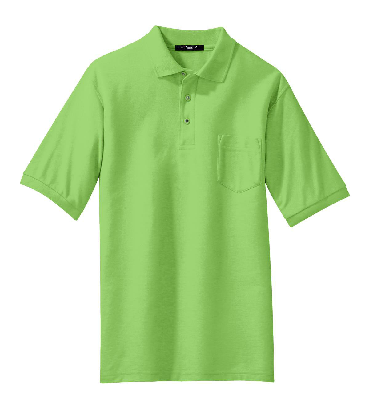 Mafoose Men's Silk Touch Polo with Pocket Lime-Front