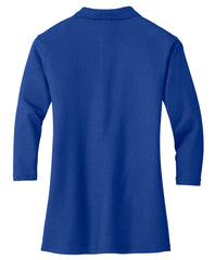 Mafoose Women's Silk Touch ¾ Sleeve Polo Shirt Royal-Back