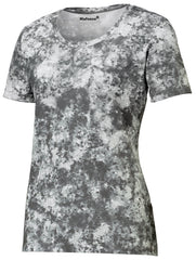 Mafoose Ladies Mineral Freeze Scoop Neck Tee Shirt Dark Smoke Grey-Front