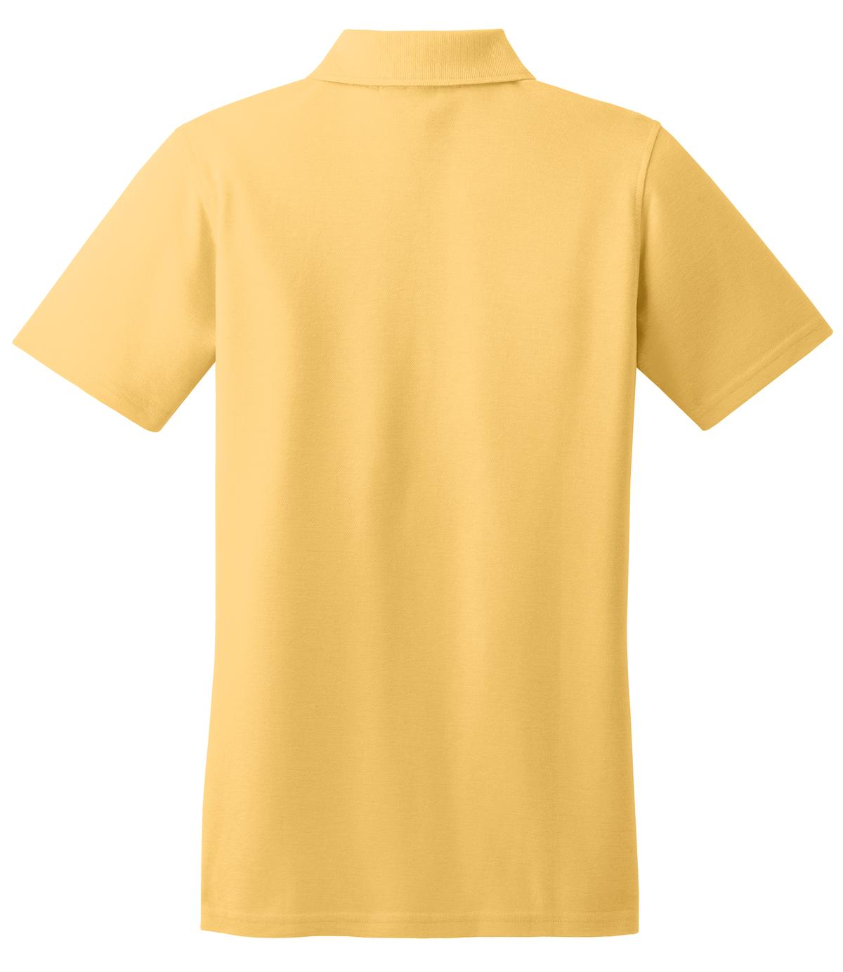 Mafoose Women's Stain Resistant Polo Shirt Banana-Back