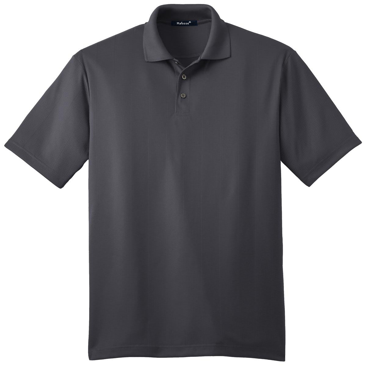 Mafoose Men's Performance Fine Jacquard Polo Grey Smoke-Front