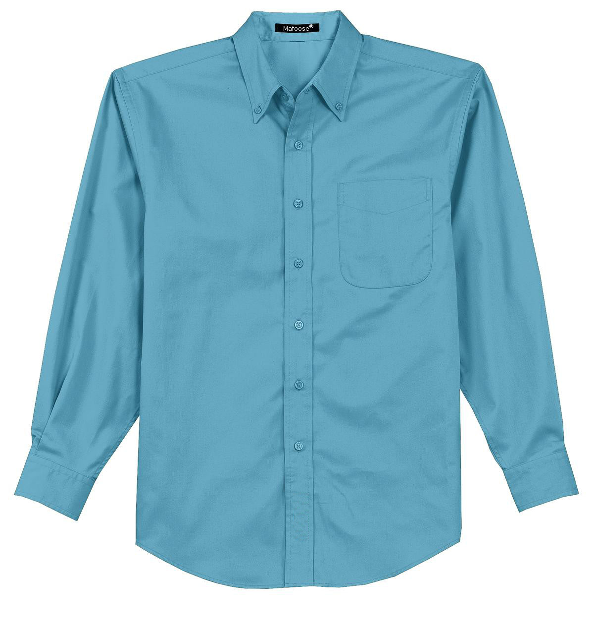 Mafoose Men's Tall Long Sleeve Easy Care Shirt Maui Blue-Front