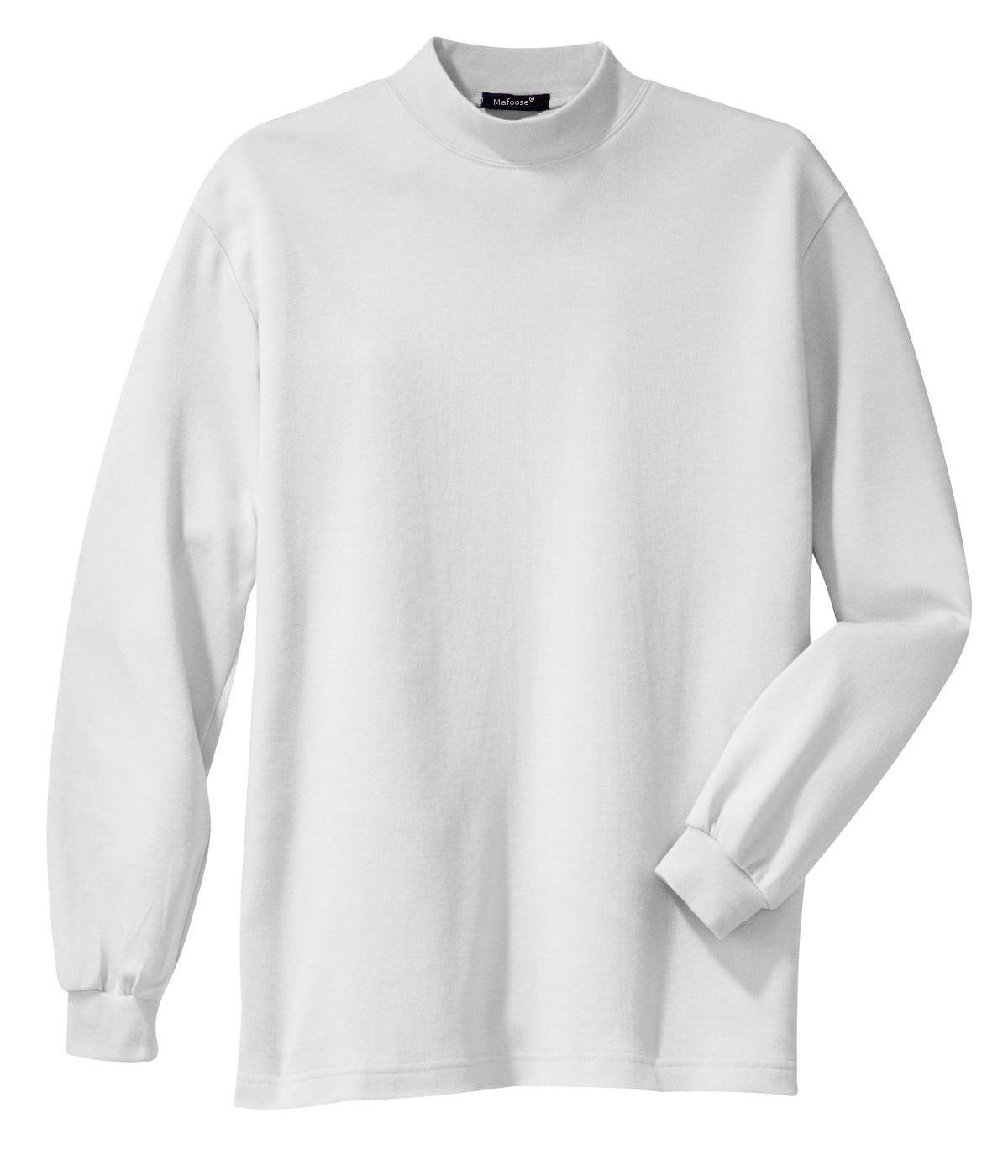 Mafoose Men's Interlock Knit Mock Turtleneck Sweaters White-Front