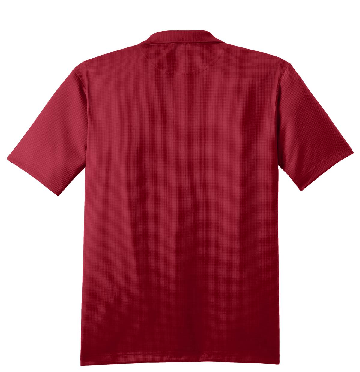 Mafoose Men's Performance Fine Jacquard Polo Rich Red-Back