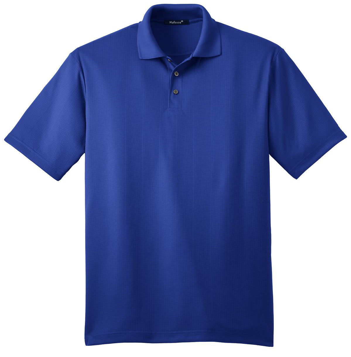 Mafoose Men's Performance Fine Jacquard Polo Hyper Blue-Front
