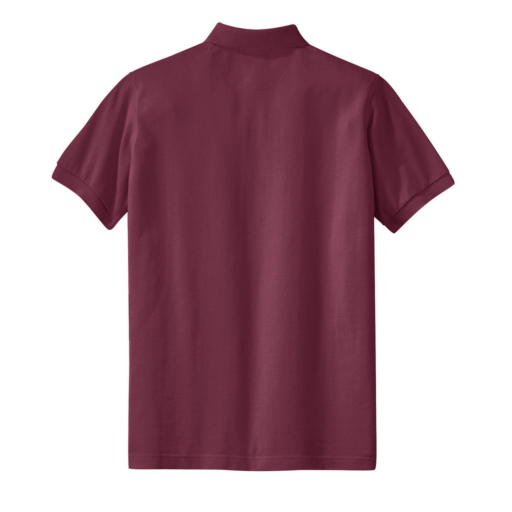Mafoose Women's Heavyweight Cotton Pique Polo Shirt Burgundy-Back