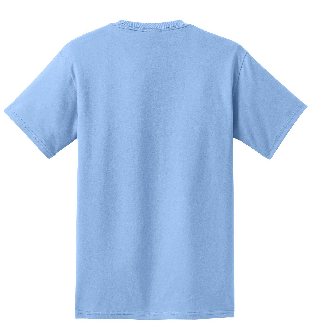 Men's Essential T Shirt with Pocket Light Blue