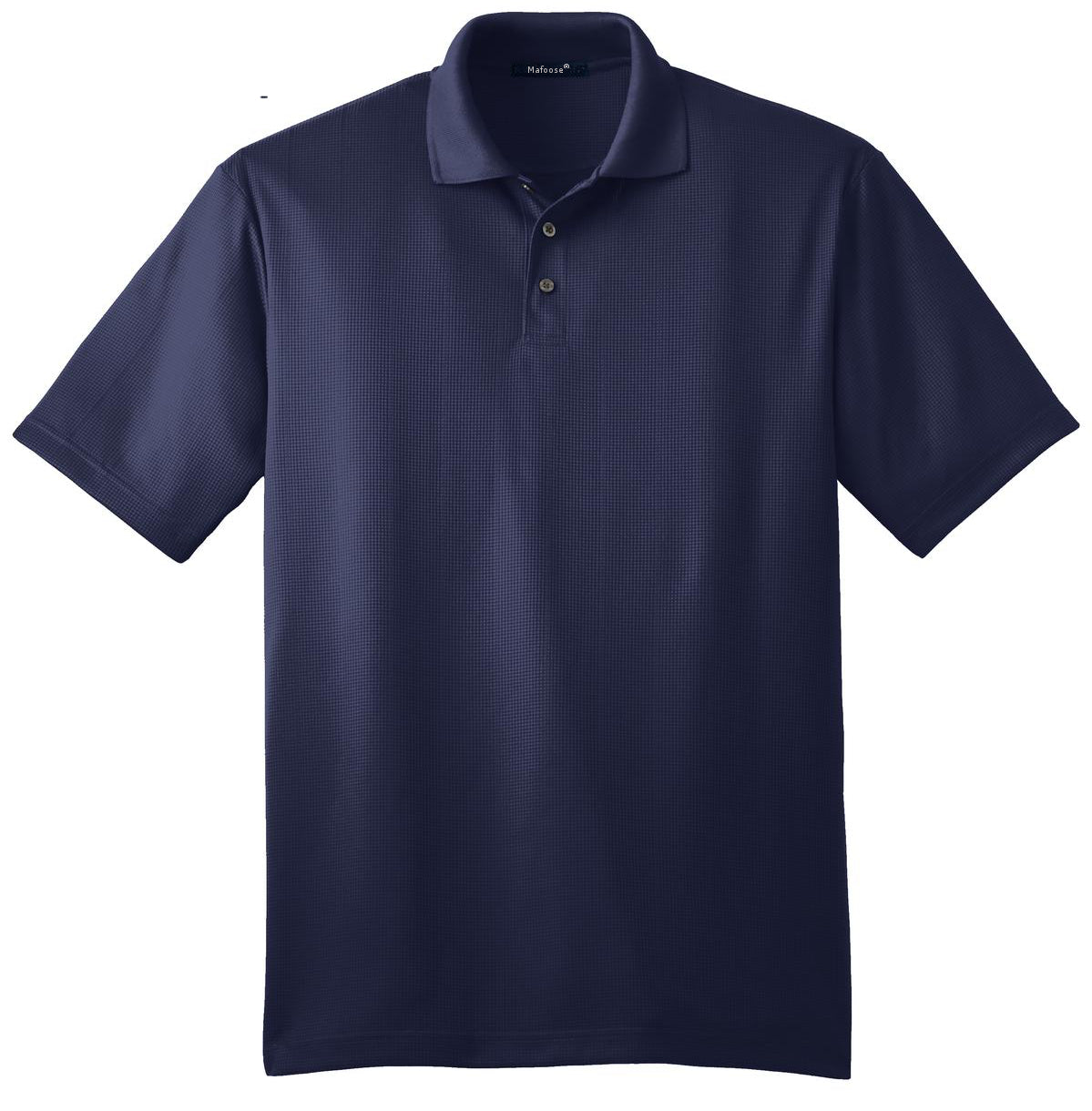Mafoose Men's Performance Fine Jacquard Polo True Navy-Front