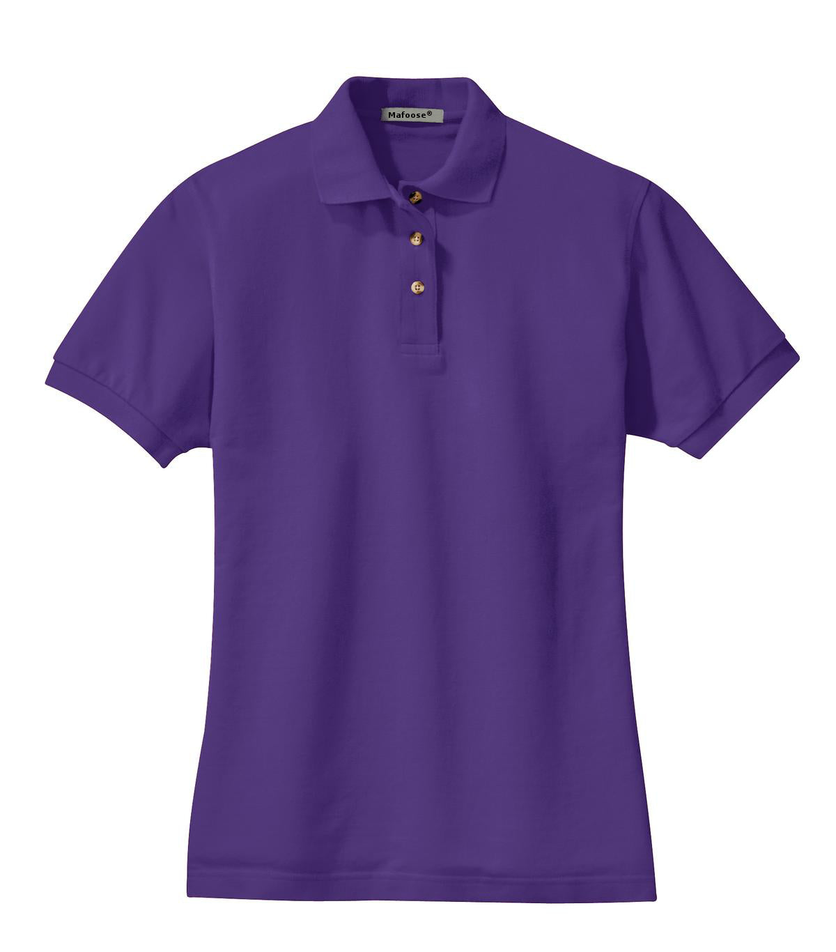 Mafoose Women's Heavyweight Cotton Pique Polo Shirt Purple-Front