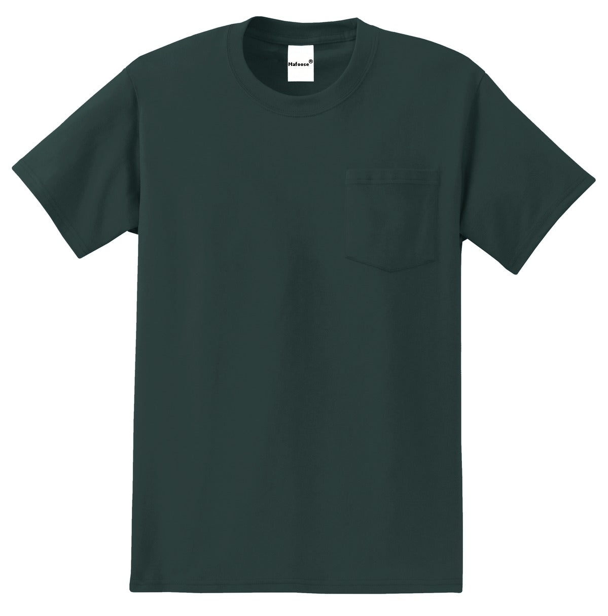 Men's Essential T Shirt with Pocket Dark Green