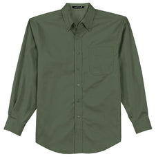 Mafoose Men's Tall Long Sleeve Easy Care Shirt Clover Green-Front