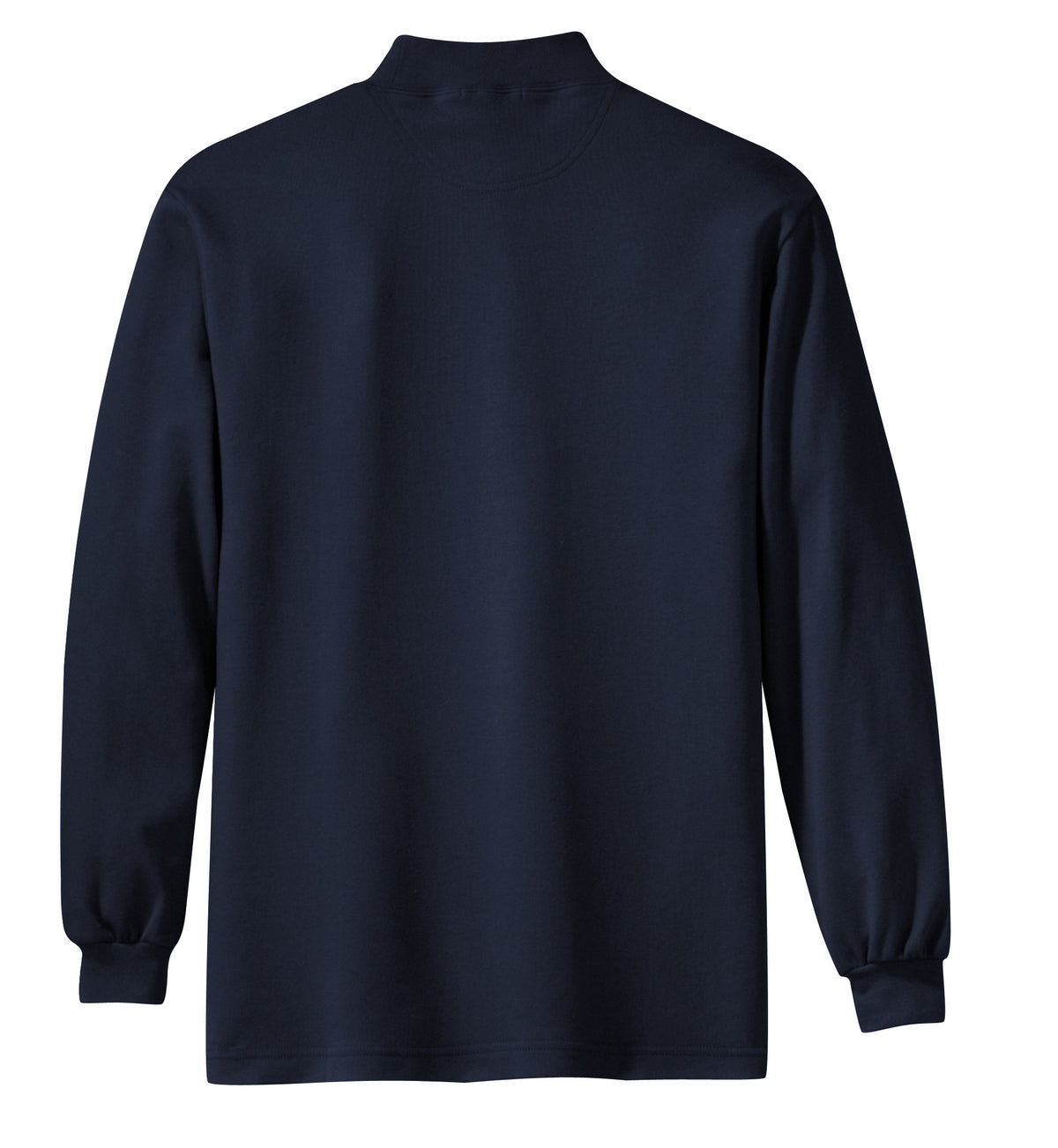 Mafoose Men's Interlock Knit Mock Turtleneck Sweaters Navy-Back