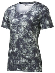Mafoose Ladies Mineral Freeze Scoop Neck Tee Shirt True Navy-Front