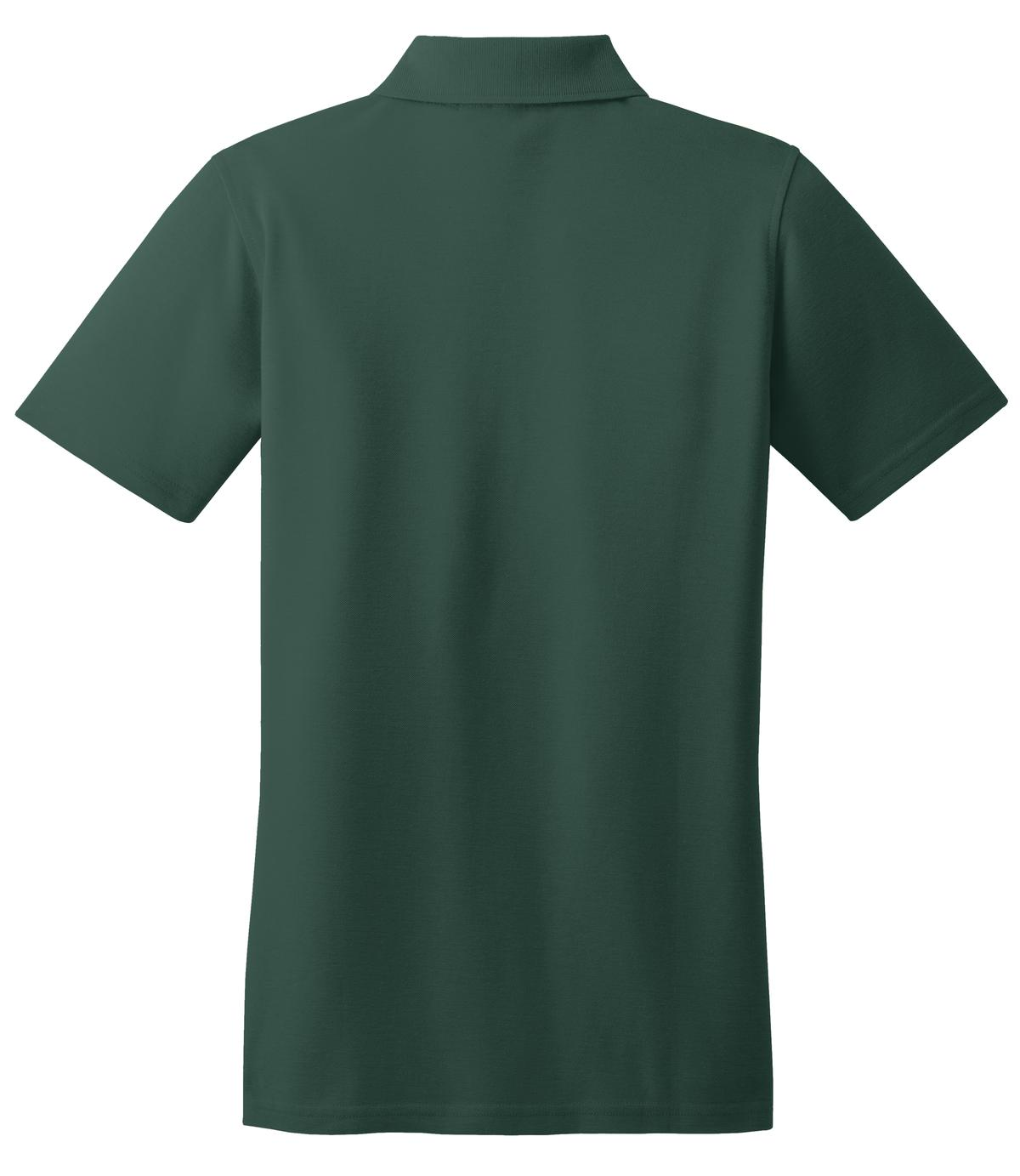 Mafoose Women's Stain Resistant Polo Shirt Dark Green-Back
