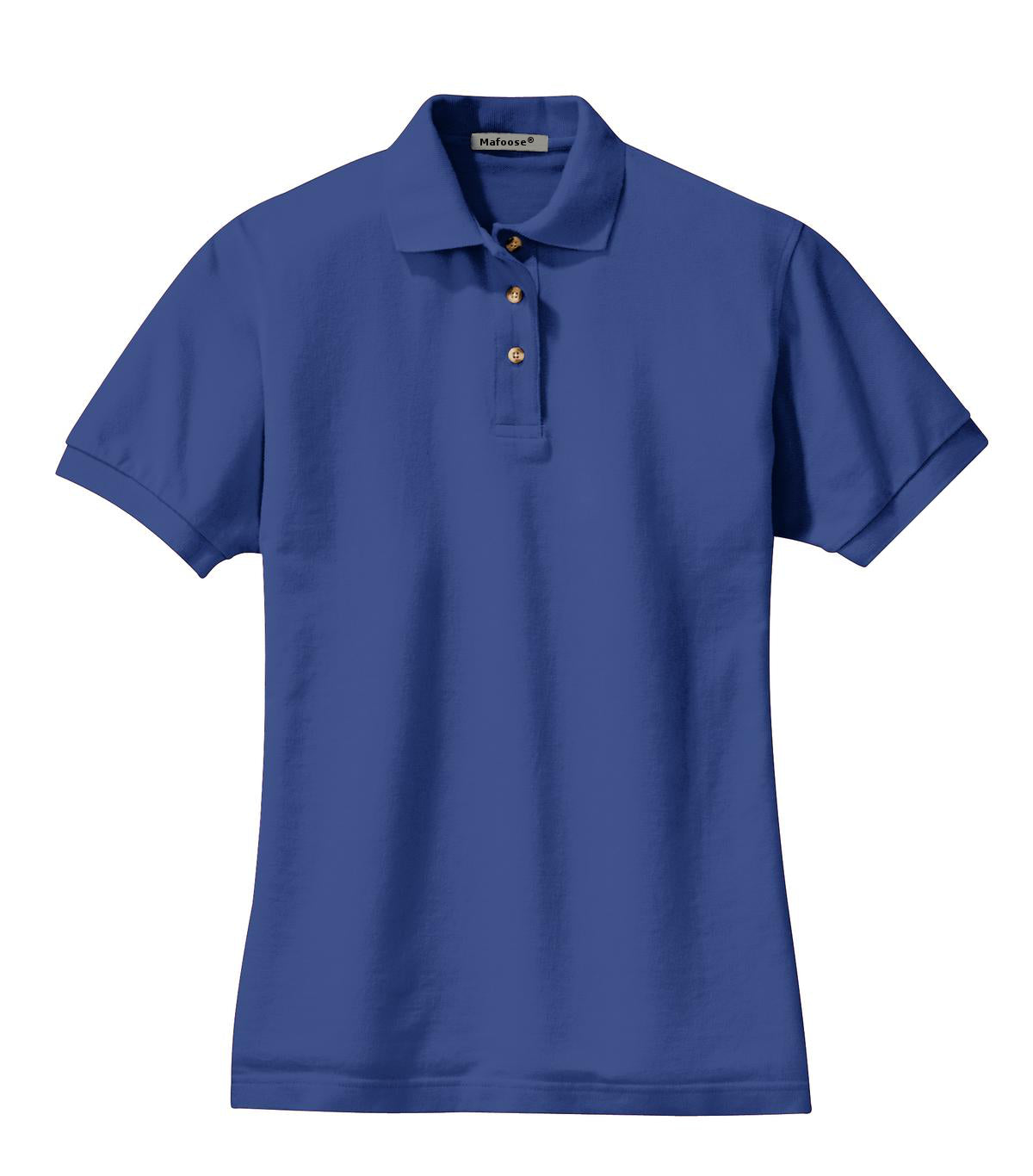 Mafoose Women's Heavyweight Cotton Pique Polo Shirt Royal-Front