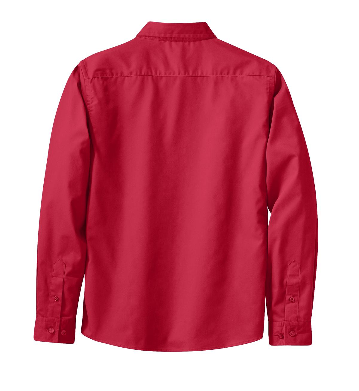 Mafoose Women's Long Sleeve Easy Care Shirt Red/Light Stone-Back