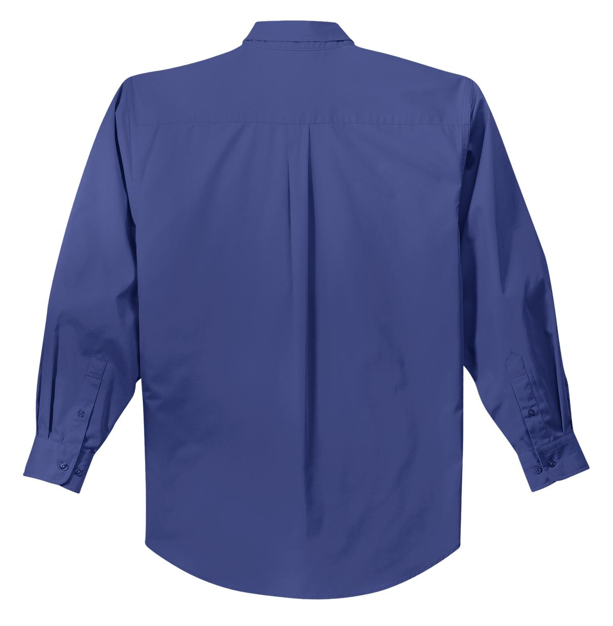 Mafoose Men's Tall Long Sleeve Easy Care Shirt Mediterranean Blue-Back