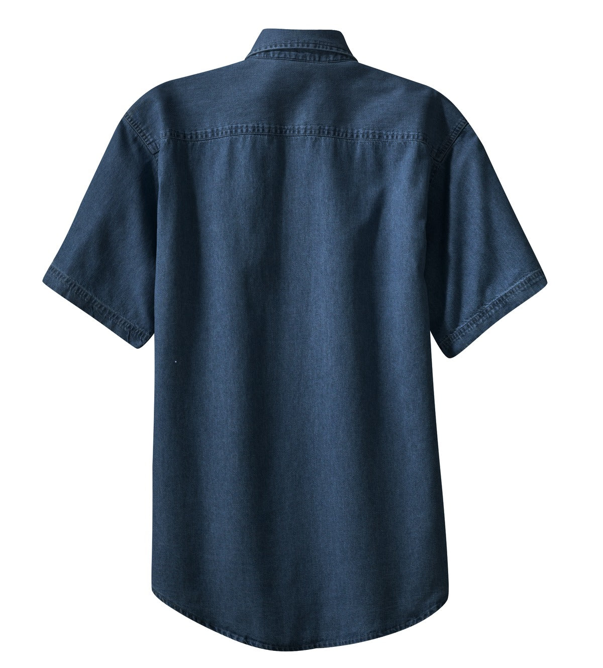 Mafoose Men's Short Sleeve Value Denim Shirt Ink Blue-Back