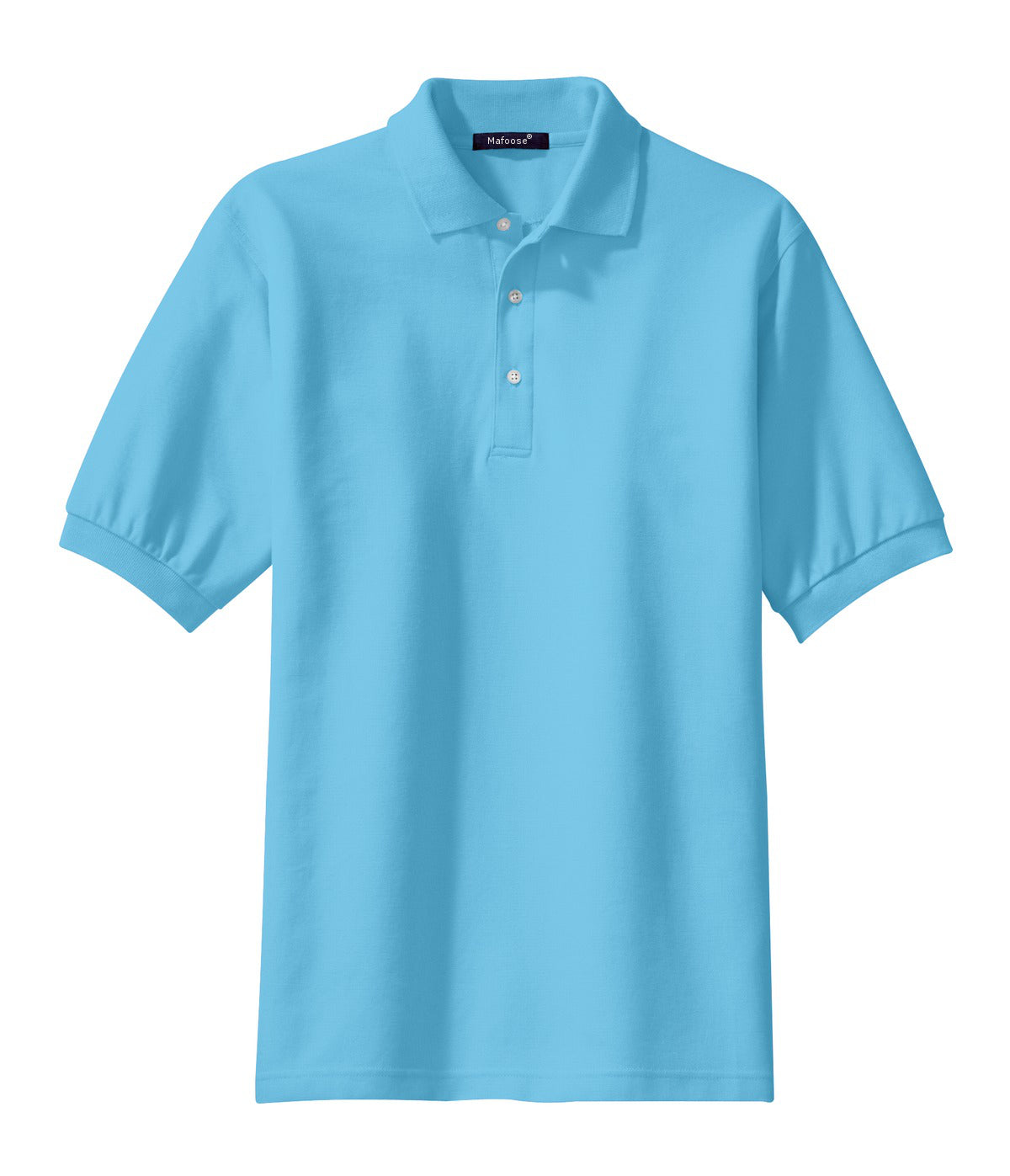 Mafoose Men's 100% Pima Cotton Polo Shirt Blue Surf-Front