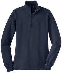 Mafoose Women's 1/4 Zip Sweatshirt True Navy-Front