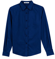 Mafoose Women's Long Sleeve Easy Care Shirt Mediterranean Blue-Front
