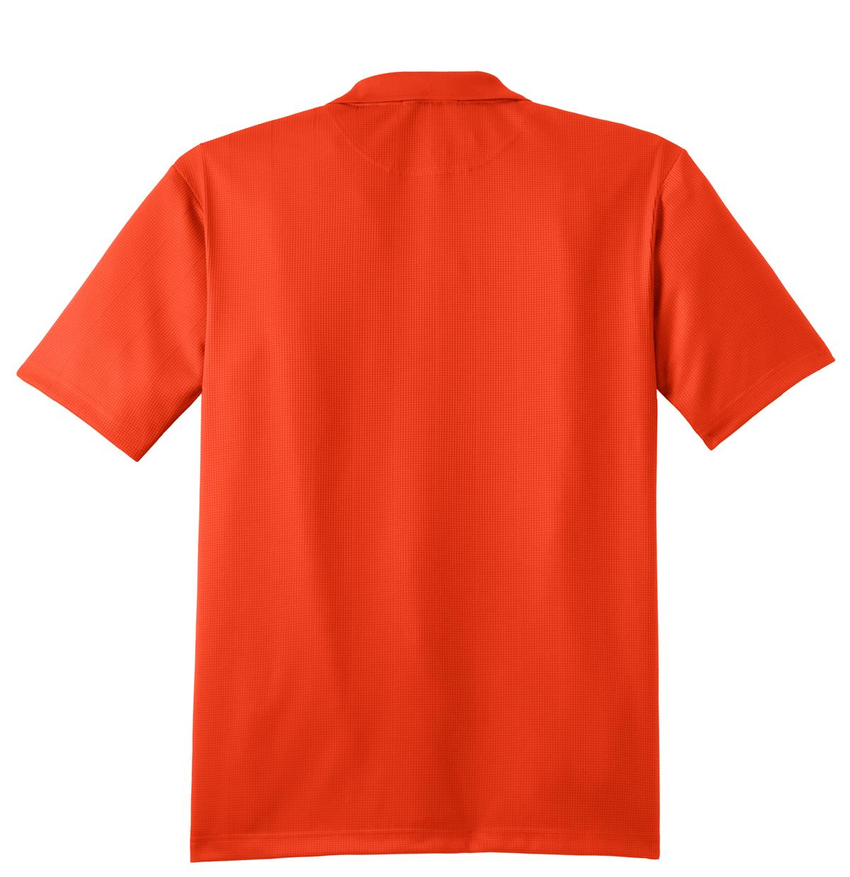 Mafoose Men's Performance Fine Jacquard Polo Autumn Orange-Back