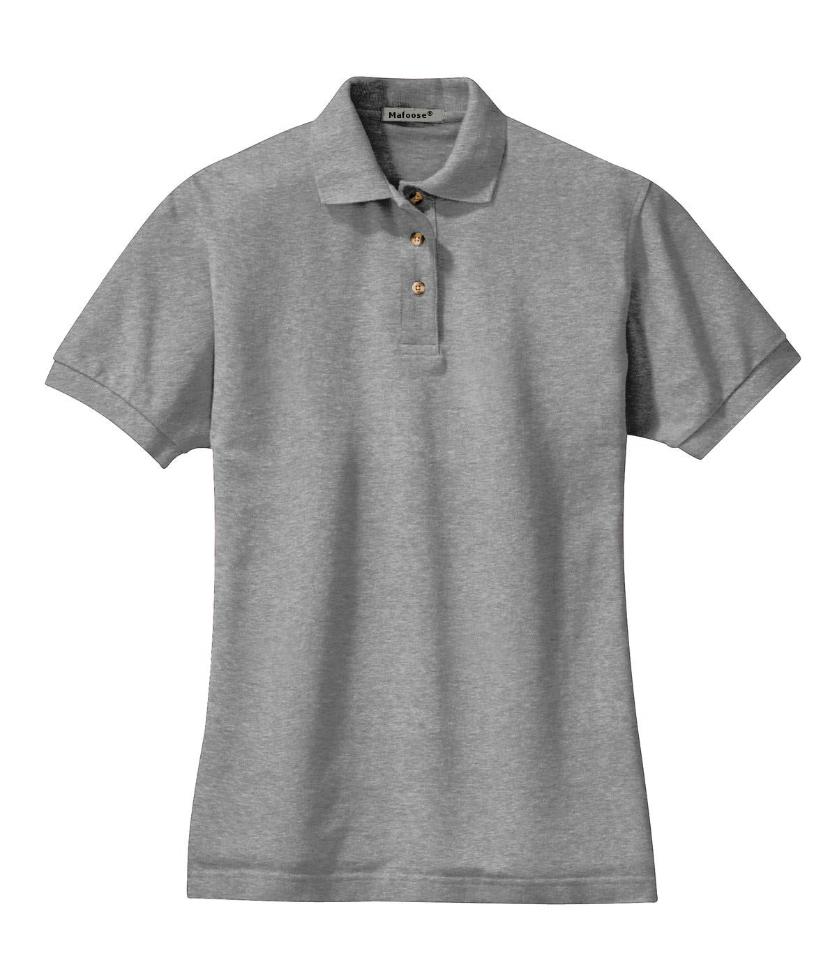 Mafoose Women's Heavyweight Cotton Pique Polo Shirt Oxford-Front