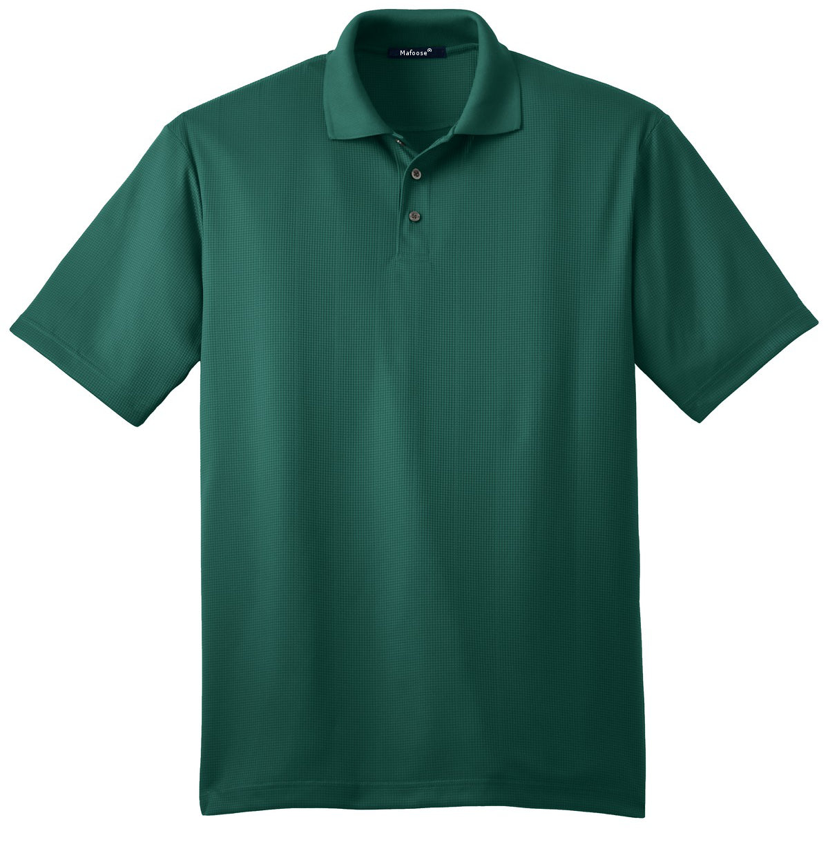 Mafoose Men's Performance Fine Jacquard Polo Green Glen-Front